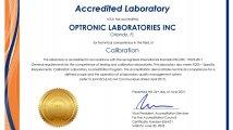 Optronic Lab - ISO/IEC 17025 Zertifizierung